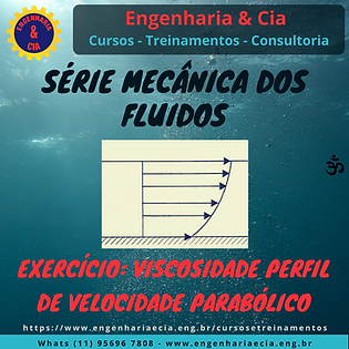 Exercício: Viscosidade Dinâmica em Escoamento Com Perfil de Velocidades Parabólico