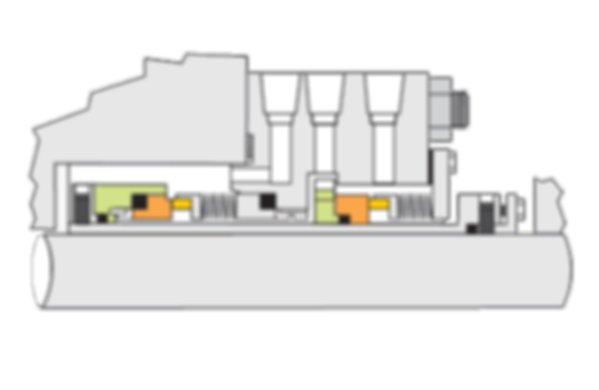 Tipo SD: Selo Mecânico Cartucho Duplo de Fole Metálico Classe API682 Tipo C