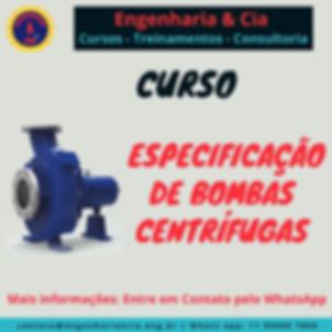 CURSO BOMBA ESPECIFICAÇÃO DE BOMBAS CENTRÍFUGAS