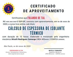 CURSO CÁLCULO DE ESPESSURA DE ISOLANTES TÉRMICOS