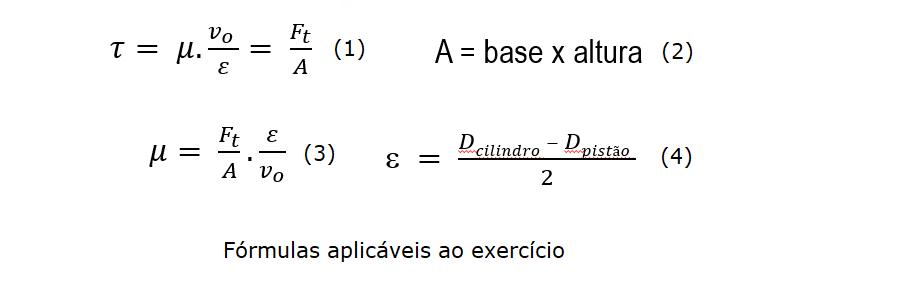fórmulas da viscosidade