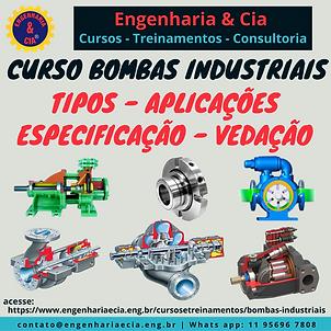 CURSO BOMBAS INDUSTRIAIS: TIPOS - APLICAÇÕES - ESPECIFICAÇÃO - VEDAÇÃO