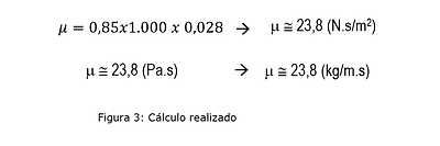 cálculos realizados