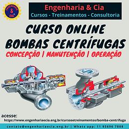 CURSO BOMBA CENTRÍFUGA: CONCEPÇÃO - MANUTENÇÃO - OPERAÇÃO