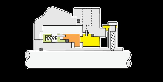 Tipo GP 100: Selo Mecânico Cartucho Simples Balanceado