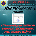 Exercício Força Em Superfície Plana Submersa Com Reservatório Pressurizado