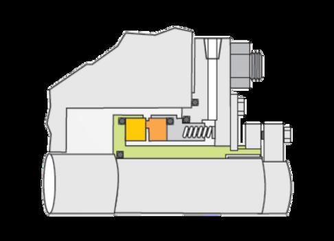 Tipo RO: Selo Mecânico Cartucho Simples Classe API 682 Tipo A