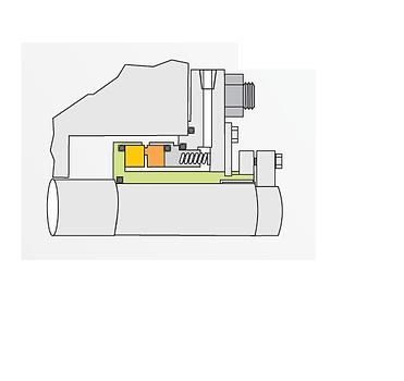 Tipo SO: Selo Mecânico Cartucho Simples de Fole Metálico Classe API682 Tipo B