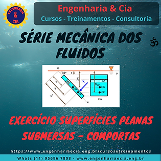 Exercício Força Em Superfície Plana Submersa - Comportas