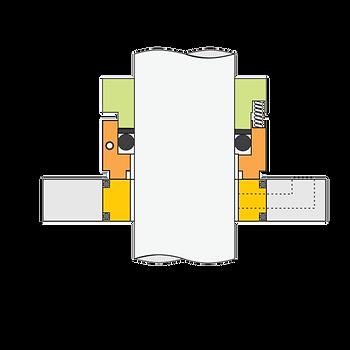 Tipo GP SPL: Selo Mecânico Bipartido