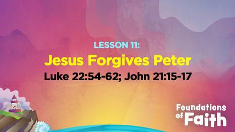 Jesus Forgives Peter