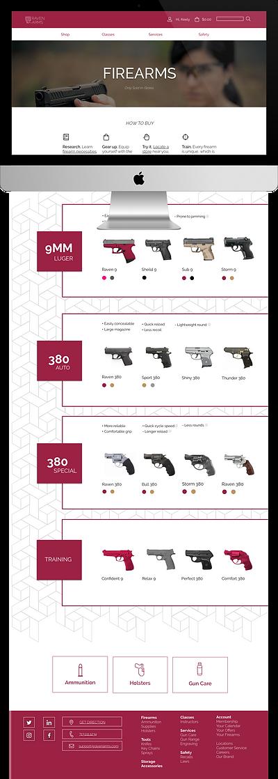 desktop ux design concept for firearms