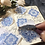 Thumbnail: Elegant Filigree Hand painted blue pattern watercolour stickers