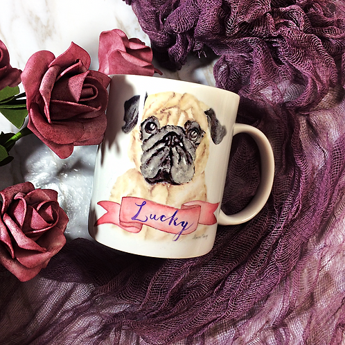 Custom Pet Portrait, Pet lover gift, Pet Coffee Mug