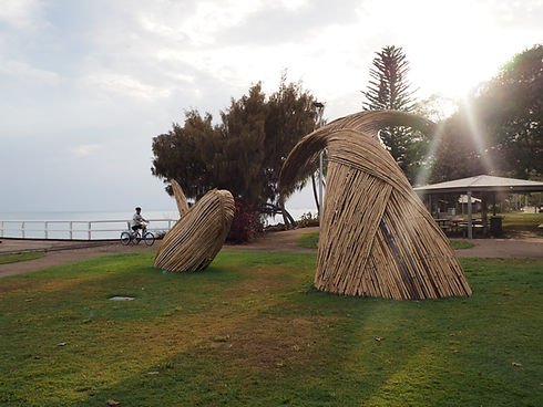Bamboo sculpture on the coast in Fraser Coast.