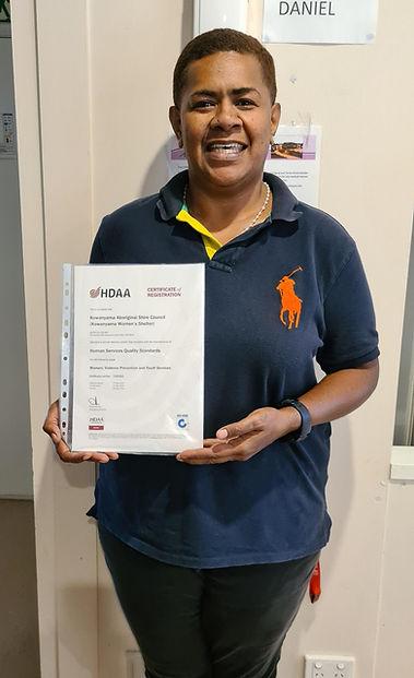 Kowanyama Women's Shelter Women Services Coordinator Ani Seruvatu