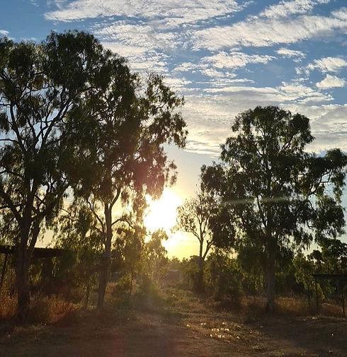 Kowanyama shire at sunset.