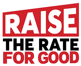Raise The Rate for Good campaign logo