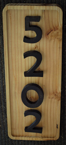 Wood Address Sign