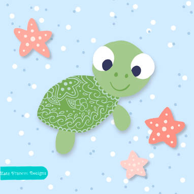 baby turtle illustration