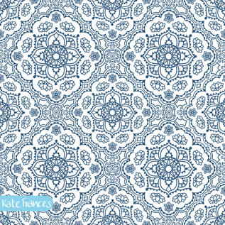 Blue-mandala-seamless-pattern-design