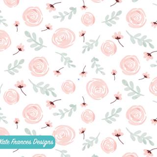 seamless watercolour floral pattern