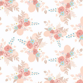 Pastel painted roses pattern