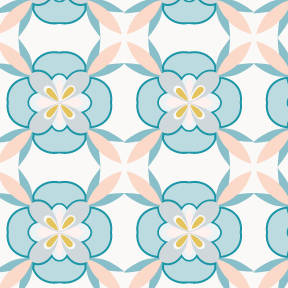 Pastel geometric flowers pattern