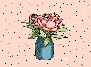 Peony illustration, buy my designs on products at Redbubble