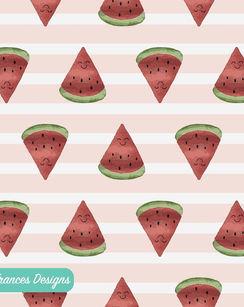 Watercolour Melon Pattern