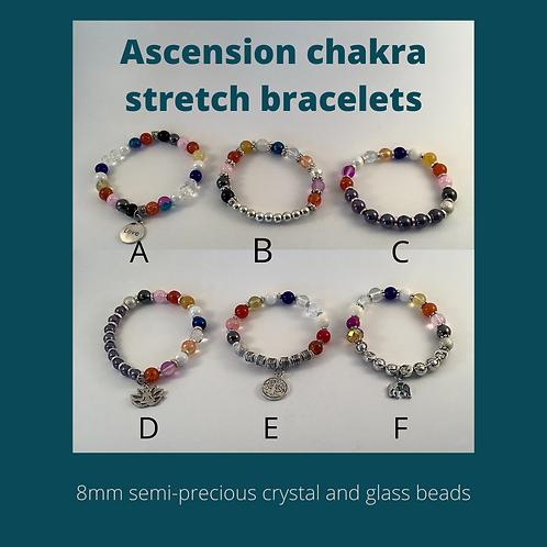 Ascension Chakra Stretch bracelets
