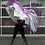 Multi Layer Angel Wings Worship Flag in movement