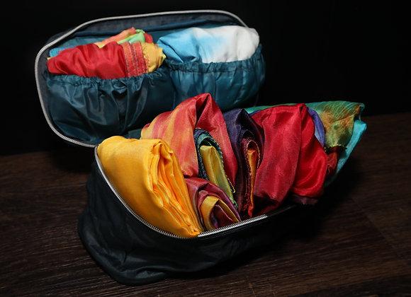 Silk Storage/Travel Pouch - Navy Teal - RTS