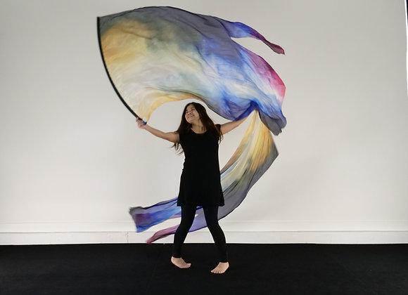 Medium Long // Way of Wisdom // Silk Flags (Set of 2)