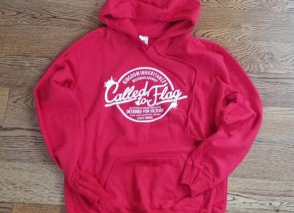 Pull-Over Hoodie Sweatshirt - Red