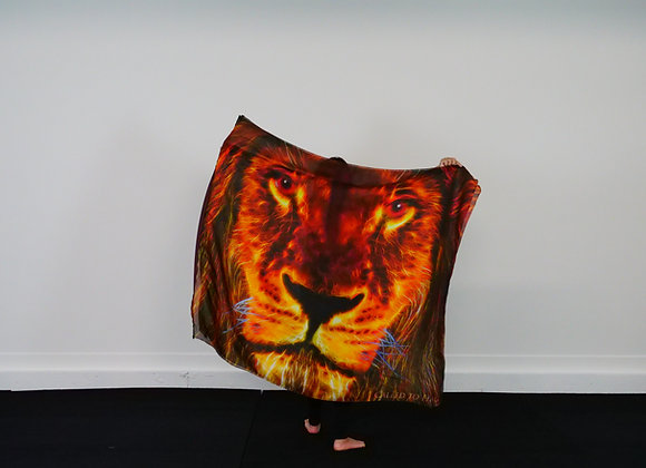 Large Size // Lions Roar // Silk Flags (Set of 2)