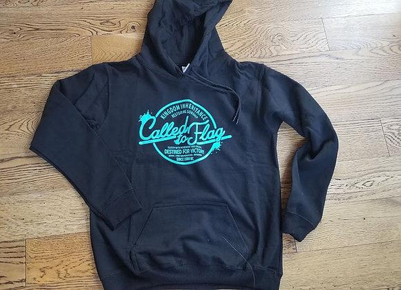 Pull-Over Hoodie Sweatshirt - Black