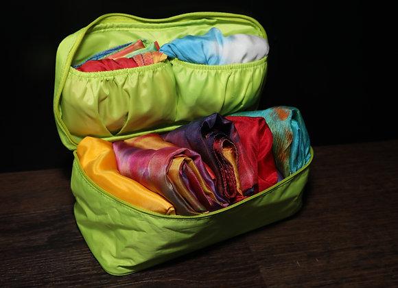 Silk Storage/Travel Pouch - Apple Green - RTS
