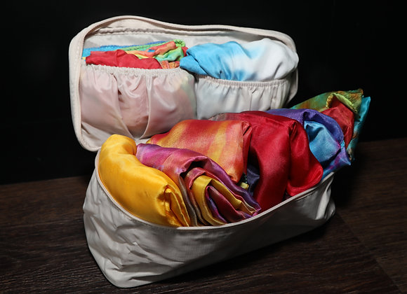 Silk Storage/Travel Pouch - Light Cream - RTS