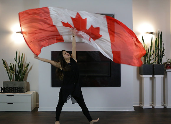 Canada Flag // (ED) Long Silk Flag(s) - from $130