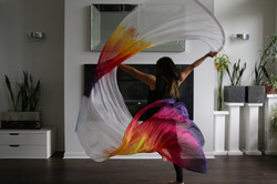 Hand-Dyed Silk Flags - RTS