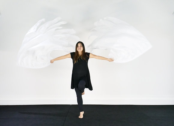Angelic Wings // Double Layer Silk Flags (Set of 2)