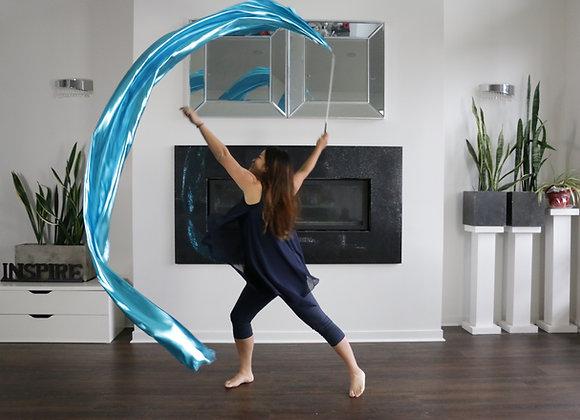 SINGLE Streamer - Liquid Metal Aqua Arctic Sky