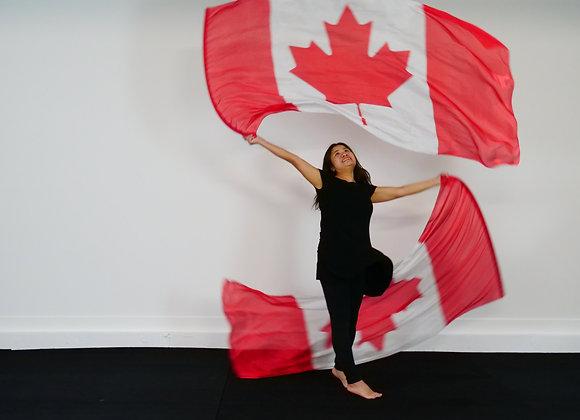 Medium Long // Canada // Silk Flags (Set of 2)