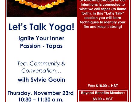 Let's talk yoga!