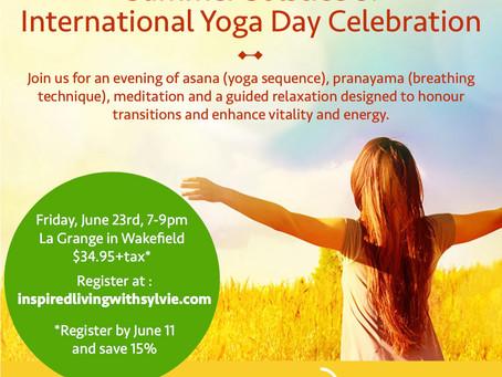Summer Solstice and International Yoga Day Celebration!