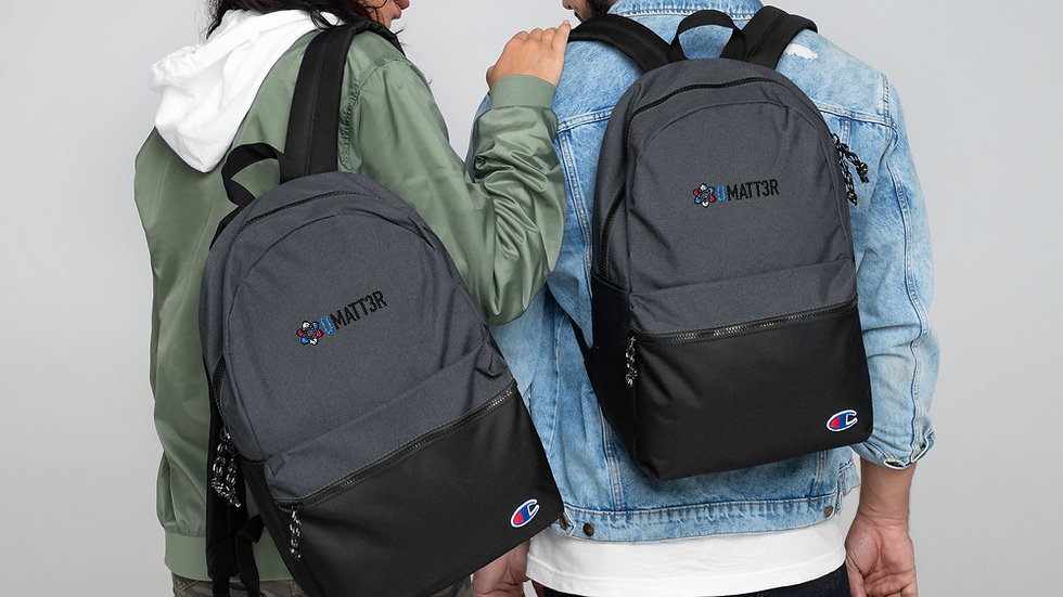 UMATT3R Trans Pride Embroidered Champion Backpack