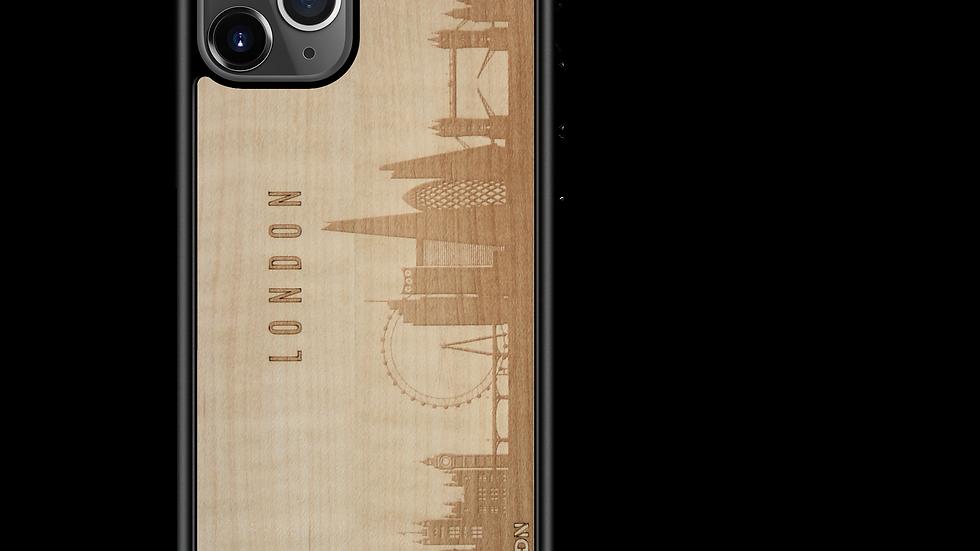 CityScape Wooden Phone Case (London England Skyline)