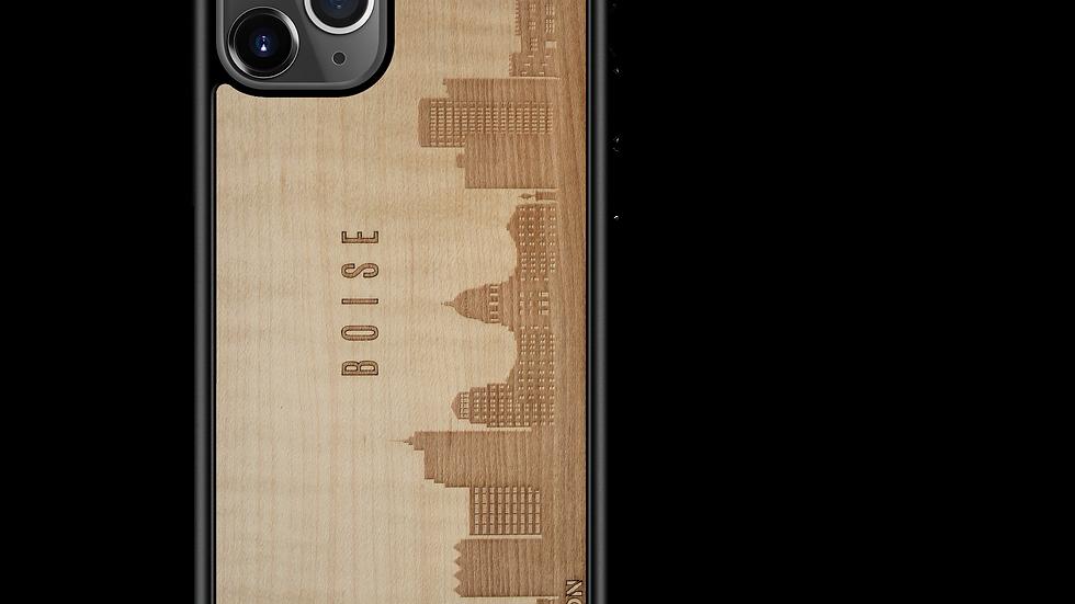 CityScape Wooden Phone Case (Boise ID Skyline)