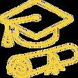 chapéu de graduação e diploma icone